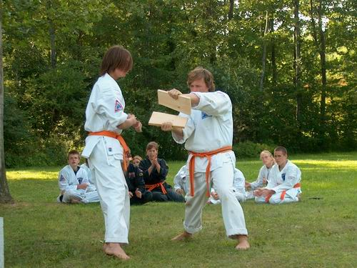 Waza in the final demonstration